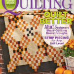 October 2015 American Patchwork & Quilting Magazine Volume 23, Number 5, Issue 136 , p. 17-20. Memories and Dreams by Suzanne Smith Arney. Nebraska quilter Kay Grimminger was unfamiliar with hyenas; student Nyabiel Khor had never made a quilter's knot. Used with permission from American Patchwork & Quilting® magazine. ©2015 Meredith Corporation. All Rights Reserved.