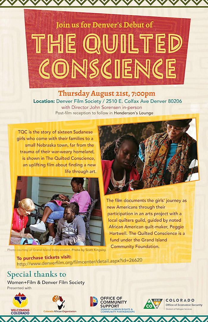 The Quilted Conscience viewing poster. Courtesy Denver Film Society