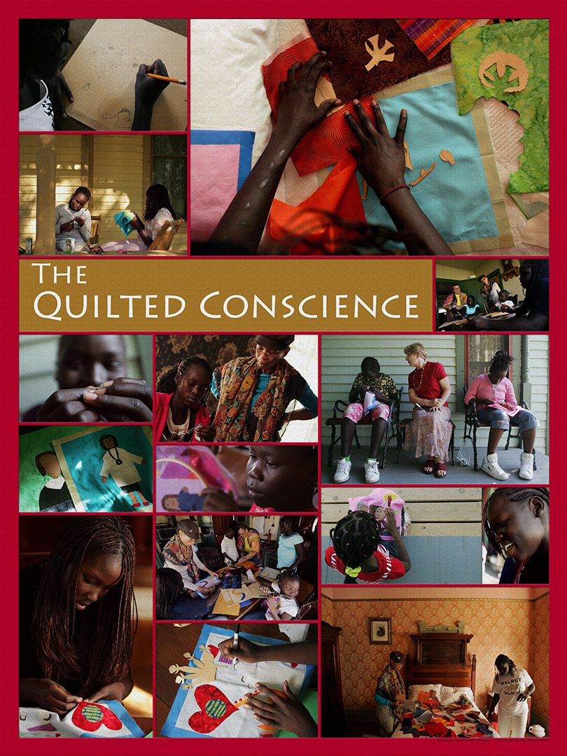 Poster for the film. Created for The Quilted Conscience by Scott Kingsley, Photos property of The Grand Island Independent http://theindependent.com