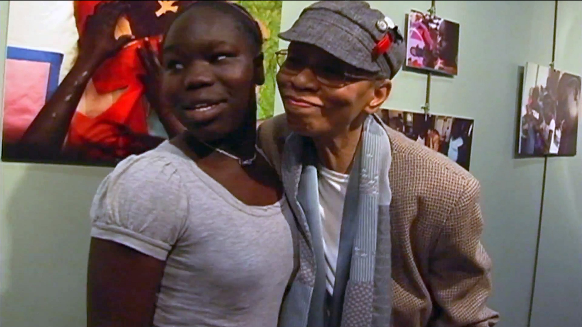 Habiba & Peggie Hartwell at the quilt exhibition From the documentary The Quilted Conscience