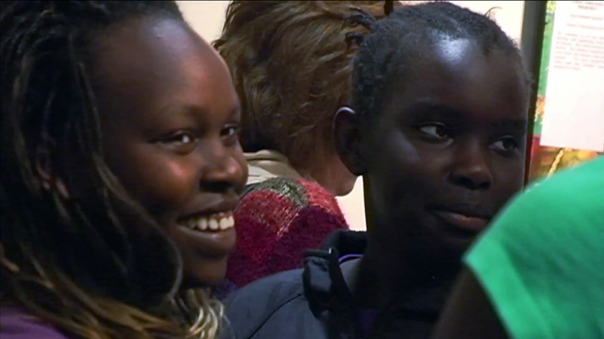 Wajdan & Nyarieka at the quilt exhibition. From the documentary The Quilted Conscience