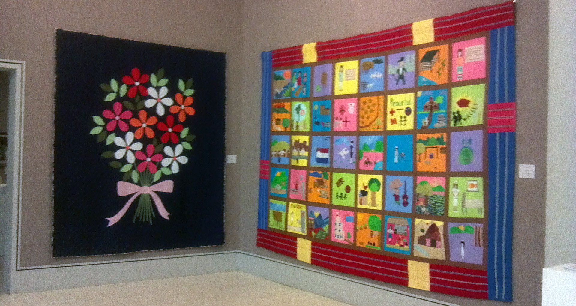 Quilt on display at Museum of Nebraska Art (MONA) in Kearney, NE. Courtesy Leslie Levy, International Quilt Study Center & Museum