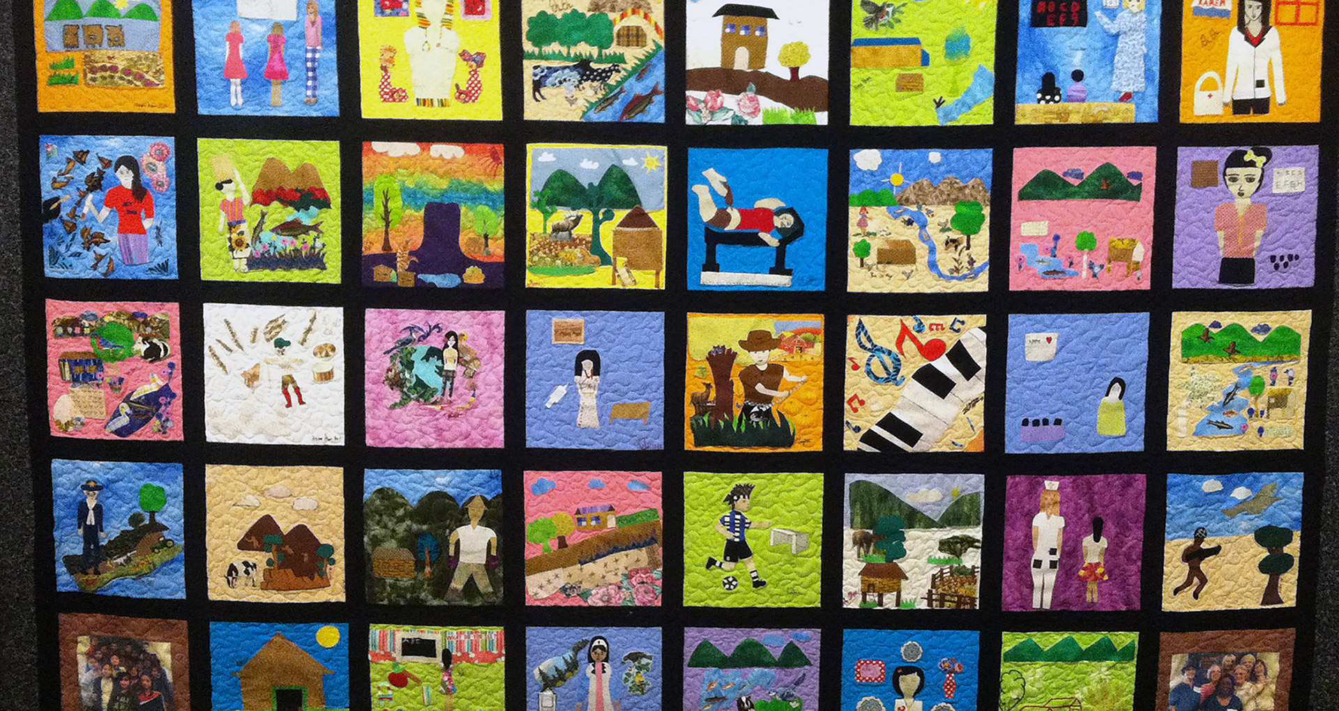 A tighter shot of the quilt. Courtesy Joslyn Art Museum