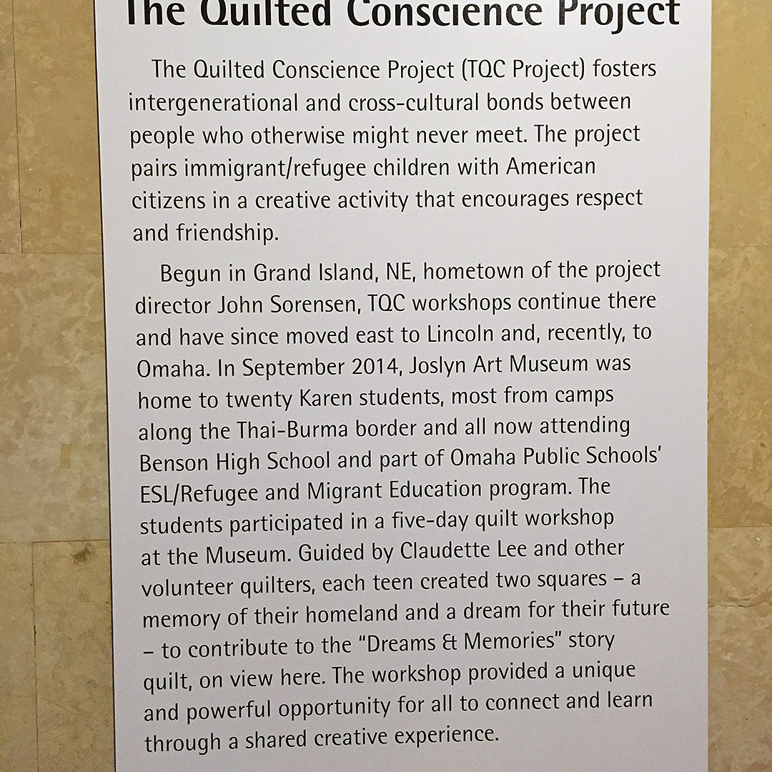 A plaque with an overview of the project. Courtesy Grand Island Community Foundation, Photo by Tammy Morris