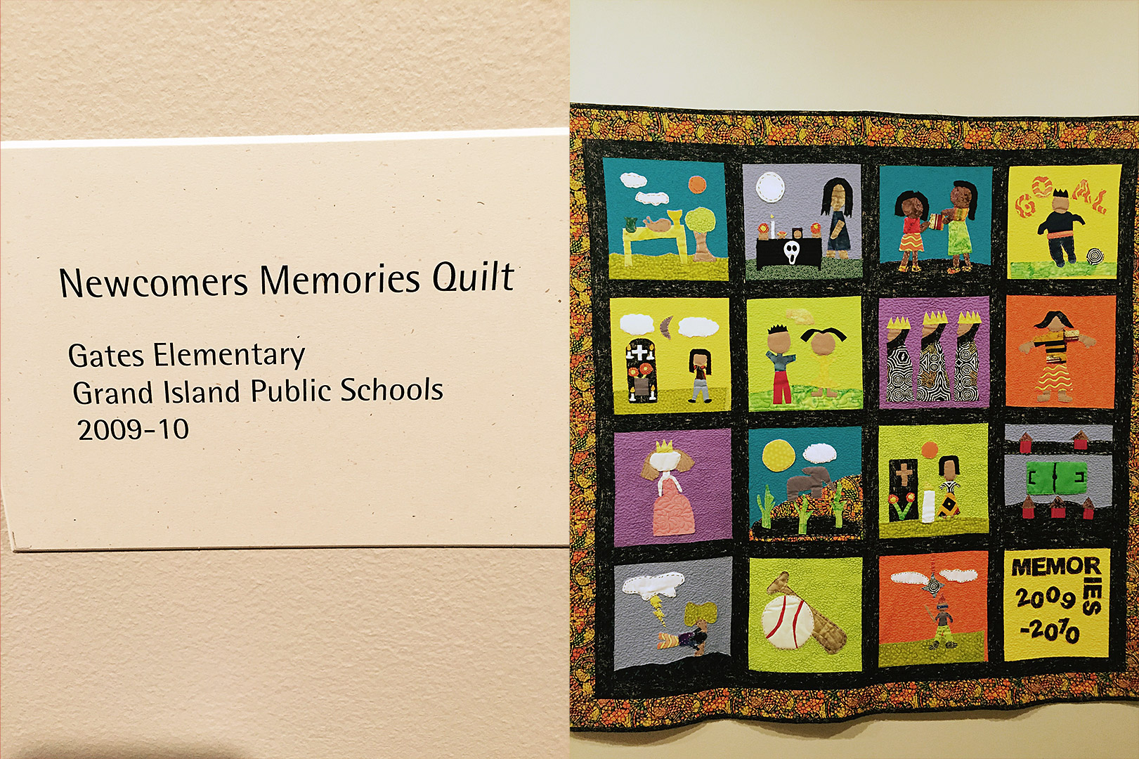 2009-2010 Newcomers Quilt. Courtesy Tracy Morrow