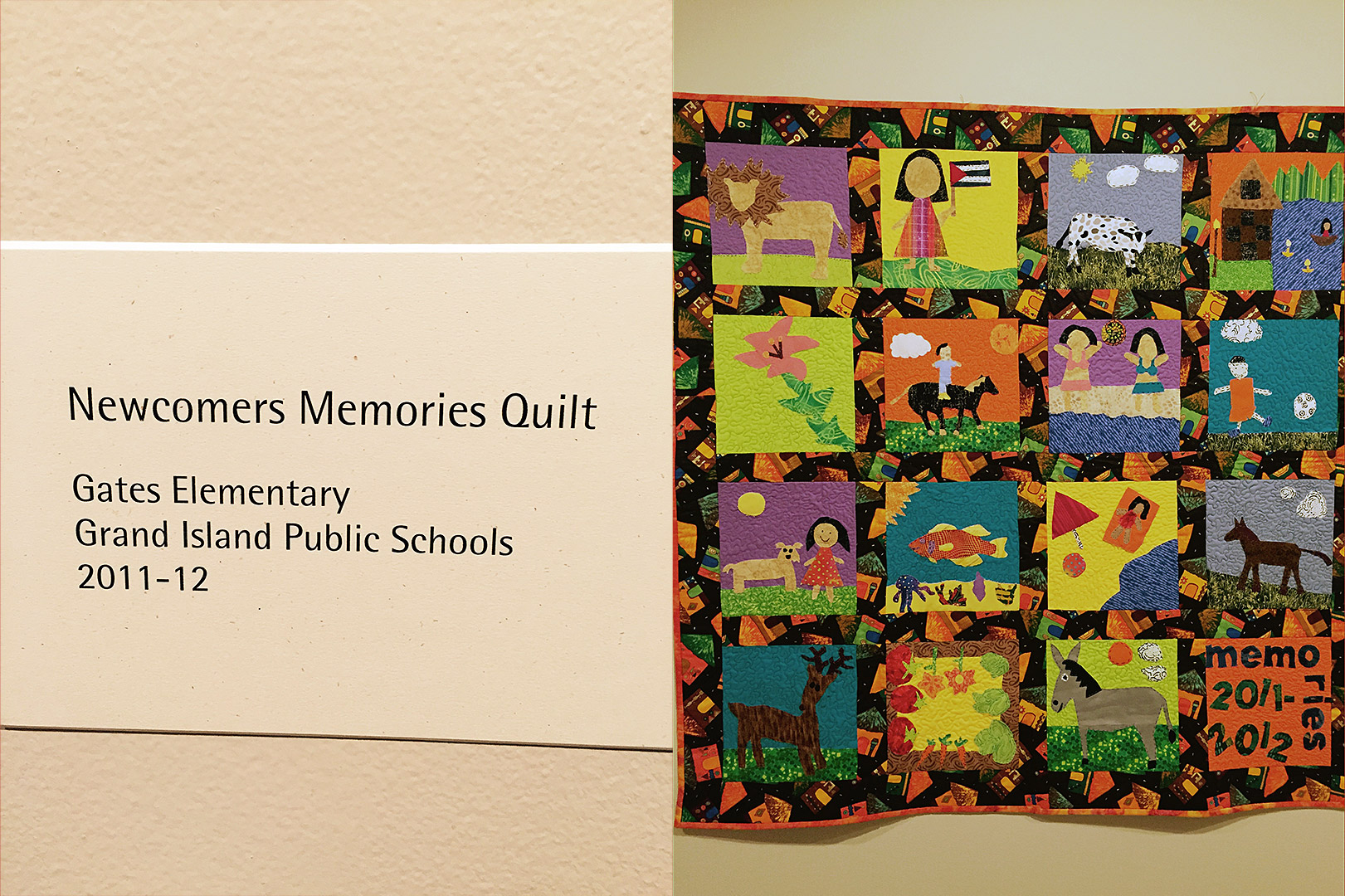 2011-2012 Newcomers Quilt. Courtesy Tracy Morrow