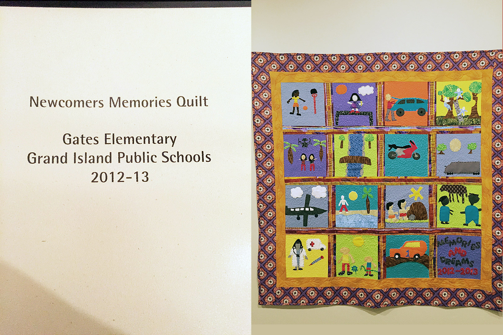 2012-2013 Newcomers Quilt. Courtesy Tracy Morrow
